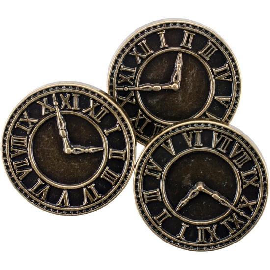 Steampunk Buttons - Clock Antique Gold