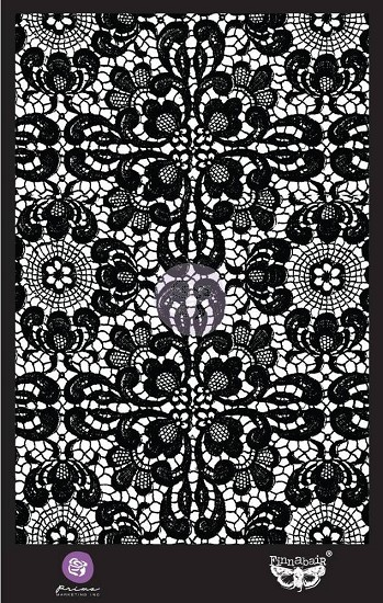 "Finnabair - Mask Stencil 6"" x 9"" - Ornate Lace"
