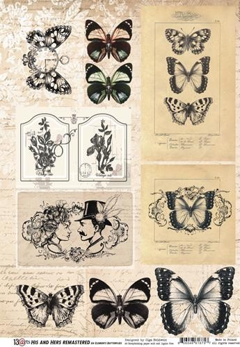 A4 Paper Elements 13@rts - His & Hers Remastered - Butterflies