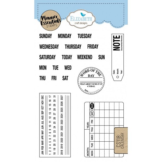 Elizabeth Craft Designs - Clearstamps Calender