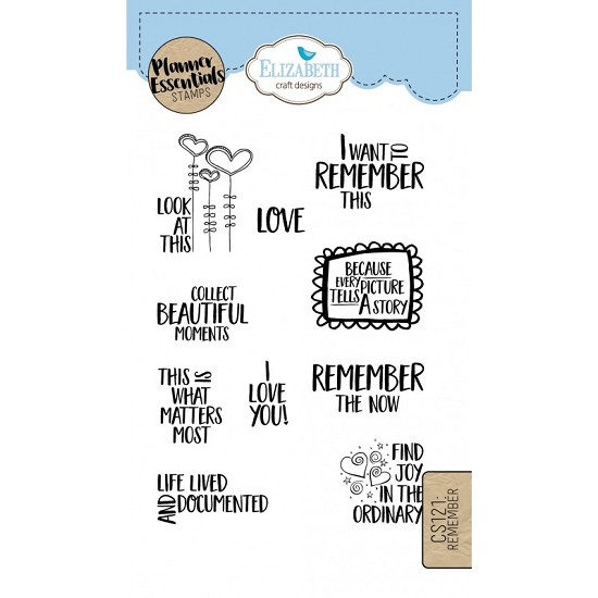 Elizabeth Craft Designs - Clearstamps Remember