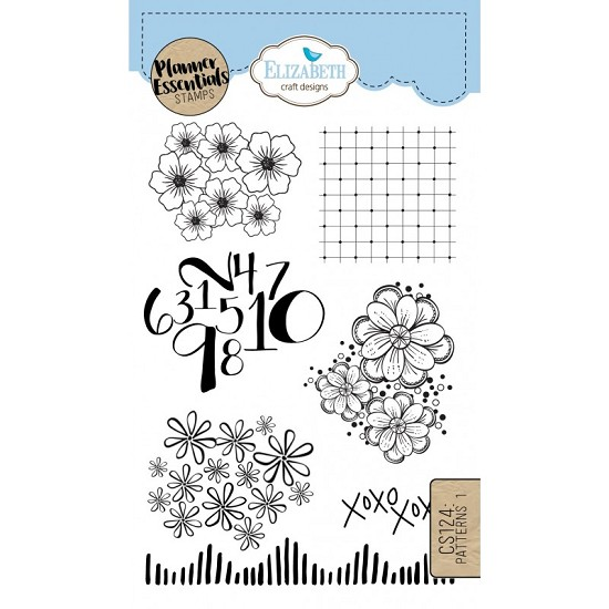 Elizabeth Craft Designs - Clearstamps Pattern 1