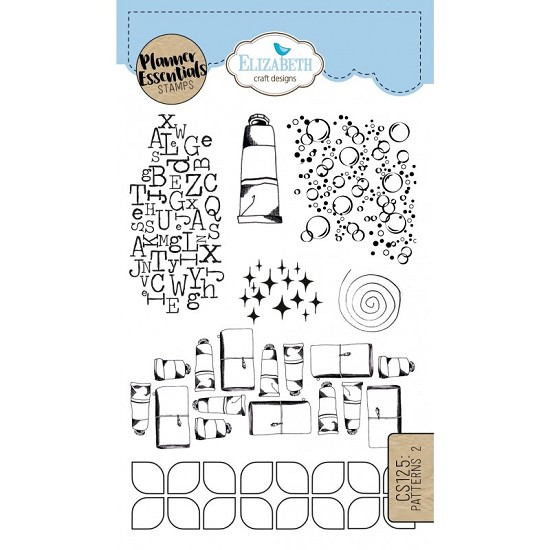 Elizabeth Craft Designs - Clearstamps Pattern 2