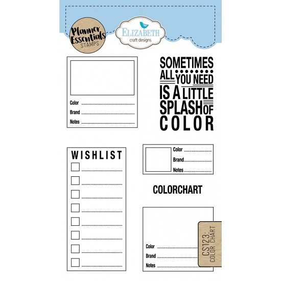 Elizabeth Craft Designs - Clearstamps Color Chart