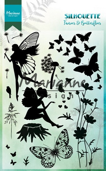 Marianne Design - Clearstamp - Silhouette Fairies & Butterflies