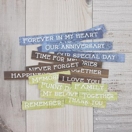 Craft-O-Clock - Die-cuts - Quotes And Remember