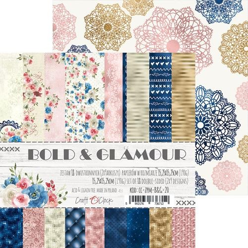 Craft-O-Clock - Paper Collection Set 15,2 x 15,2 cm - Bold And Glamour