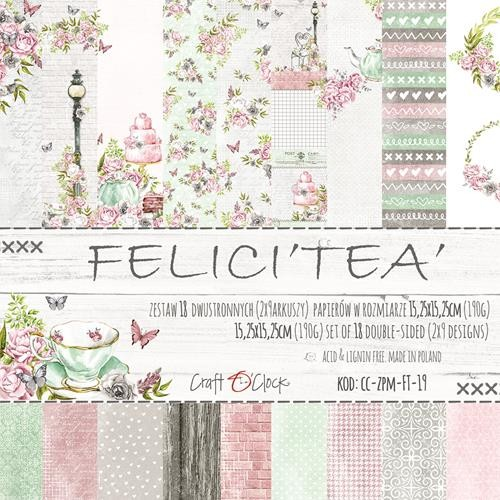 Craft-O-Clock - Paper Collection Set 15,2 x 15,2 cm - Felici`tea