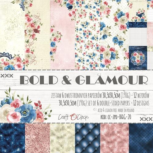 "Craft-O-Clock - Collection Kit 12"" x 12"" - Bold And Glamour"