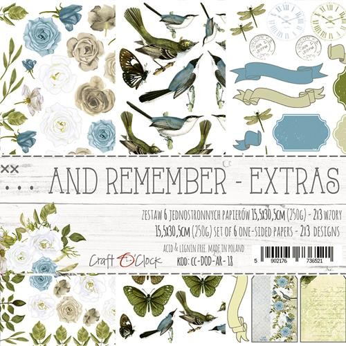 Craft-O-Clock - Paper Collection EXTRA set - And Remember