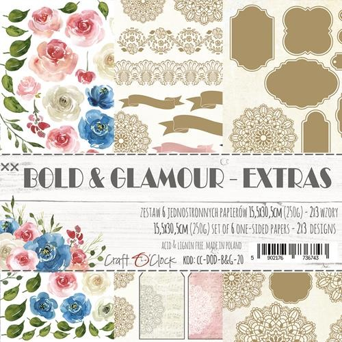 Craft-O-Clock - Paper Collection EXTRA set - Bold And Glamour