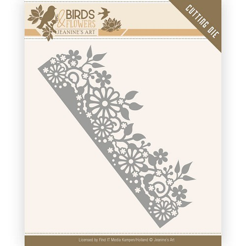 Dies - Jeanine`s Art - Birds and Flowers - Daisy Border