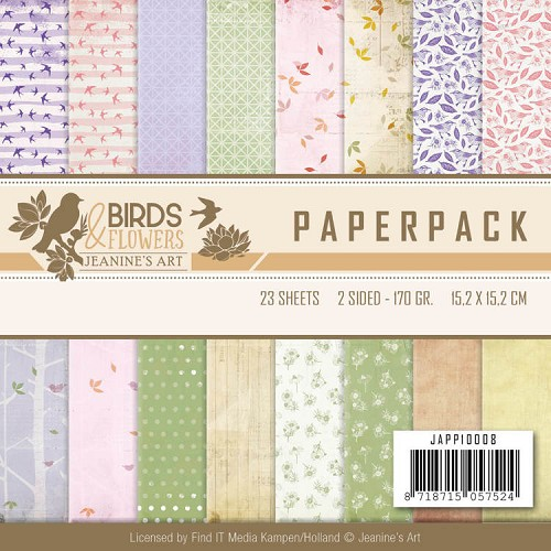 Paperpack - Jeanine`s Art - Birds and Flowers
