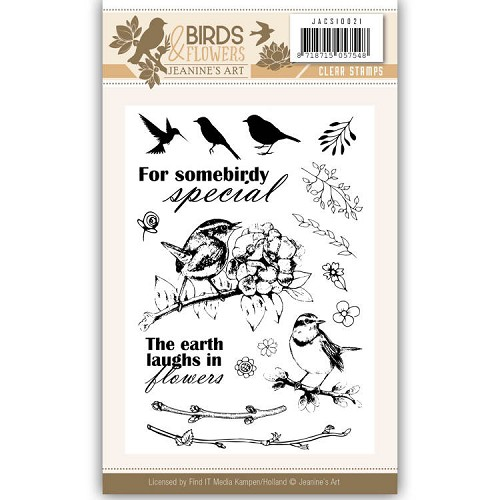 Clearstamp - Jeanine`s Art - Birds and Flowers
