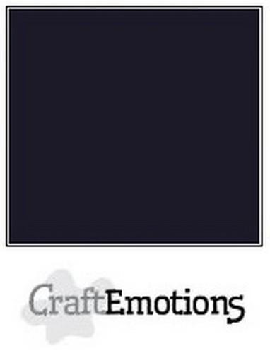 CraftEmotions - Cardstock GLAD - 30,5x30,5cm - Zwart (10 vel)