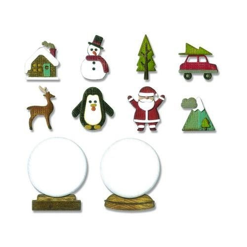 Sizzix Thinlits Die Set - Tiny Snowglobes - 11pk/g