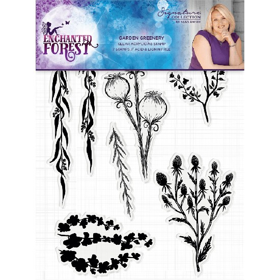 Crafter`s Companion - Enchanted Forest - Clearstamp Garden Greenery