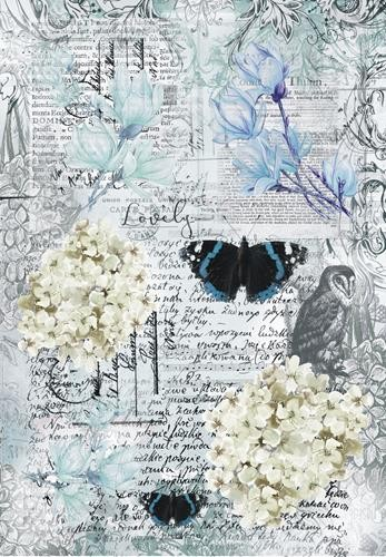 13@rts - Blue Magnolia by Aida Domisiewicz - A4 vel Butterfly Collage