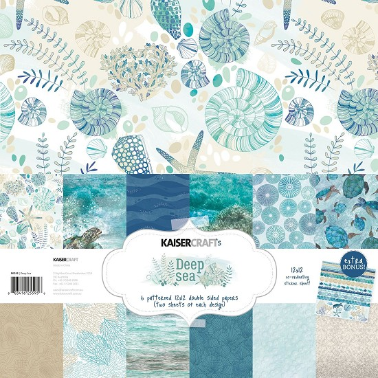 Paper Collection Kit 30,5 x 30,5 cm - Kaisercraft - Deep Sea