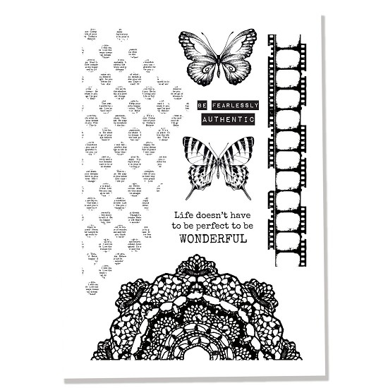 Clearstamp Kaisercraft - Scrap Studio - Butterfly