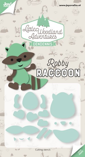 DenDennis - Little Woodland Adventures - Cutting Die Robby Raccoon