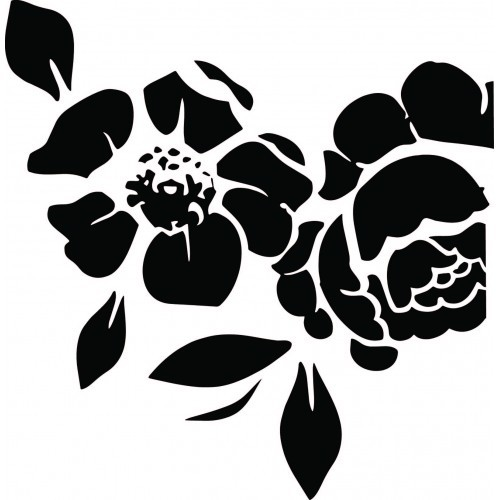 AB Studio - Chipboard - ID-5 (Background Flowers)