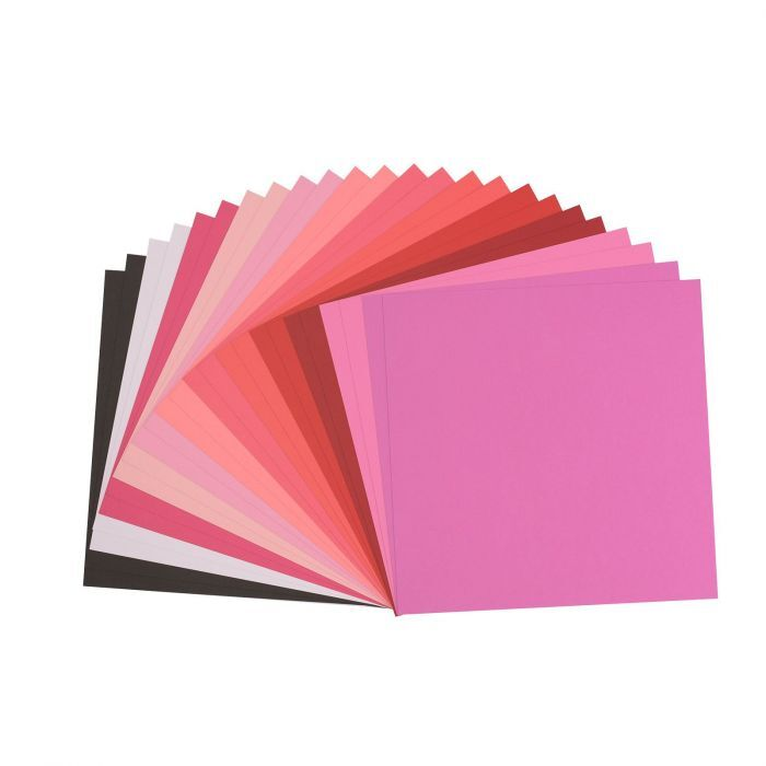 Florence Cardstock - Canvas Texture - Valentine assortie