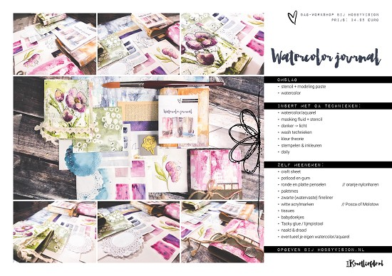 Workshop - Watercolor Journal met Ilse Kleijer - Zaterdag 6 juli