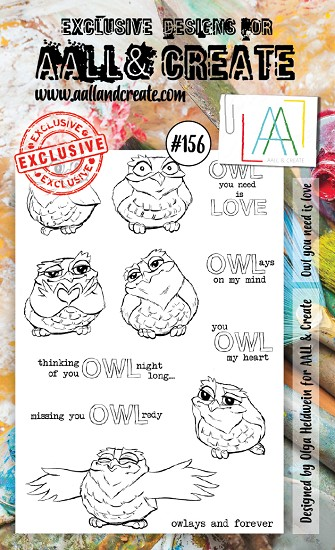 AALL & CREATE - Clearstamp A6 - Set number 156
