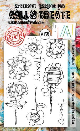 AALL & CREATE - Clearstamp A6 - Set number 158