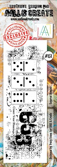 AALL & CREATE - Clearstamp border - Set number 151