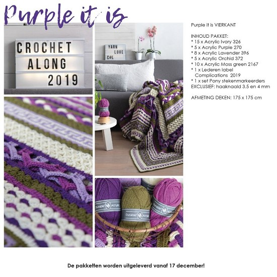 Complications CAL 2019 - Purple it is - Vierkant