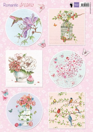 Marianne Design - 3D Knipvel - Els Weezenbeek - Romantic Dreams Pink