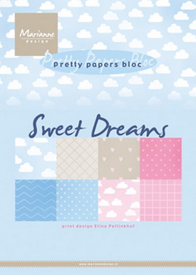 Marianne Design - Paperpad A5 - Eline`s Sweet Dreams