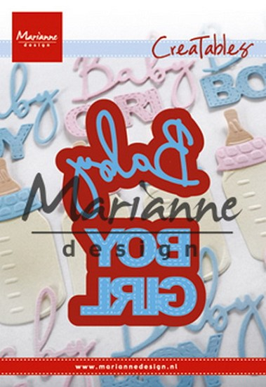 Marianne Design - Creatable - Baby text boy & girl