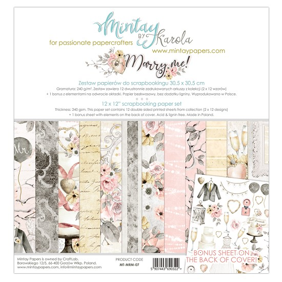 Paperpad Mintay - Marry Me 30,5 x 30,5 cm - MT-MRM-07