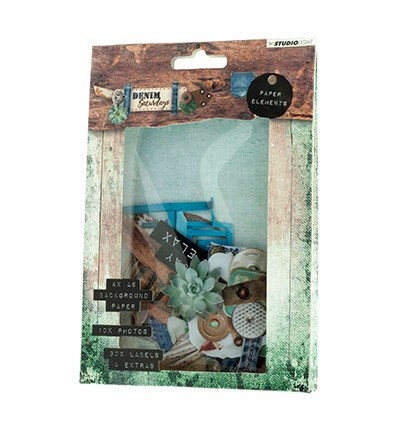 Studio Light - Die Cut Paper Set - Denim Saturdays nr. 646
