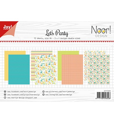Noor! Design - Paperpad A4 - Let`s Party