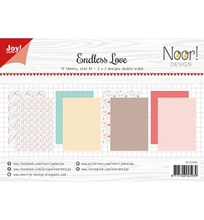 Noor! Design - Paperpad A4 - Endless Love