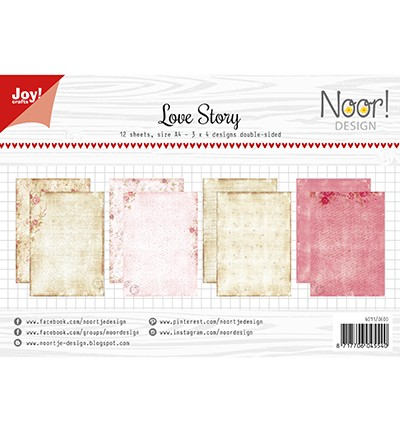 Noor! Design - Paperpad A4 - Love Story