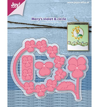 Joy Crafts - Snij-embosstencil - Mery`s violet & circle