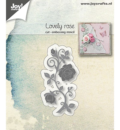 Joy Crafts - Snij-embosstencil - Lovely Rose