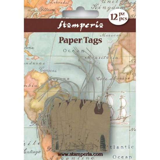 Stamperia - Paper Tags - Monuments (SBA59)