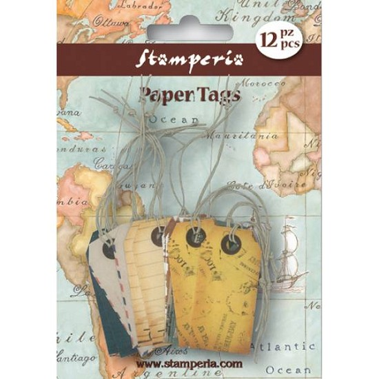 Stamperia - Paper Tags - Colored Tags (SBA60)