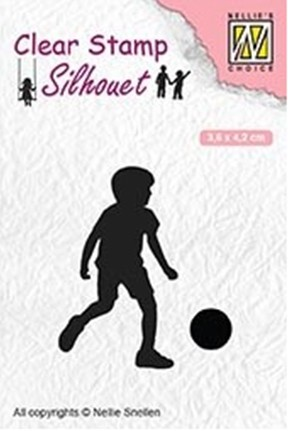 Clearstamp Nellie Snellen - Silhouet - Football Player