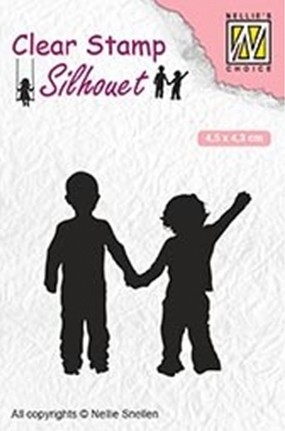 Clearstamp Nellie Snellen - Silhouet - Close Friendship