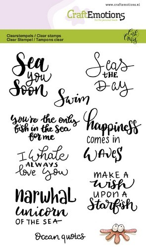 Clearstamp CraftEmotions - Handletter - Ocean Quotes (ENG)