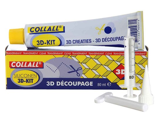 Collall - Siliconen lijm 3D kit - (set)