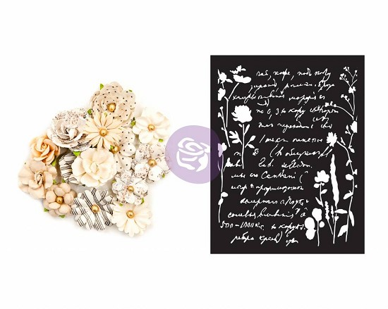 Prima Marketing Flowers - Pretty Pale - Flowers Canvas