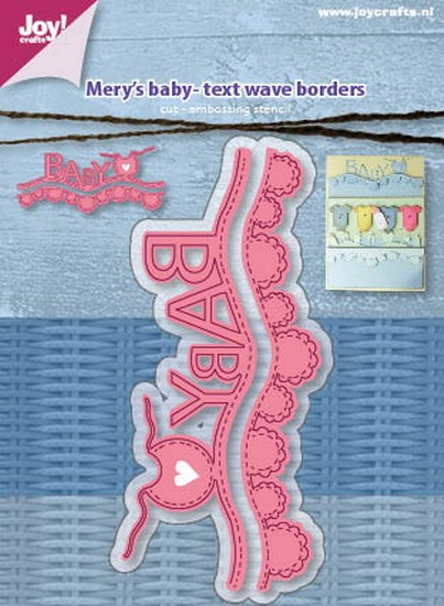 Mery`s - Cutting & Embossing stencil - Mery`s Baby - Text Wave Borders